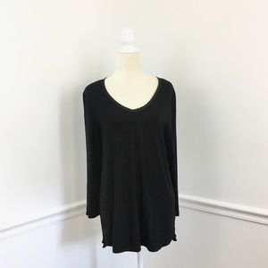 Anthropologie Pure + Good V Neck Jersey Tee